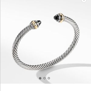David yurman cable classic black/gold bracelet